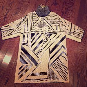 Tory Burch long open sweater/ cardigan size small